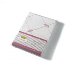 Wieg- Ledikantlaken Pink, Nicolientje